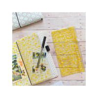 Freckled Fawn - Traveler's Notebook Plastic Zip Pouch Insert - Yellow Star - Standard