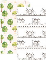 Webster's Pages - Traveler's Notebook Inserts - House & Tree - Standard (Grey Lined/Blank) - Set of 2