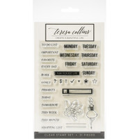 Teresa Collins Clear Stamp Set - Planner Girl