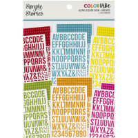 Carpe Diem - Simple Stories - A5 Sticker Book - Color Vibe Alpha - Brights