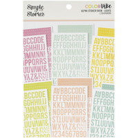 Carpe Diem - Simple Stories - A5 Sticker Book - Color Vibe Alpha - Lights