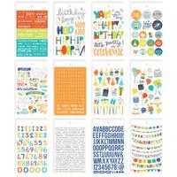 Carpe Diem - Simple Stories - Mini Sticker Book - Birthday Blast