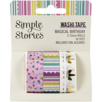 Carpe Diem - Simple Stories - Magical Birthday Washi Tape - Set of 3