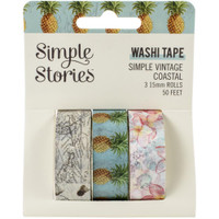 Carpe Diem - Simple Stories - Simple Vintage Coastal Washi Tape - Set of 3