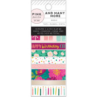 American Crafts - Pink Paislee - And Many More Washi Tape - Set of 8
