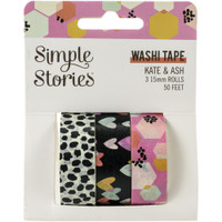 Carpe Diem - Simple Stories - Kate & Ash Washi Tape - Set of 3