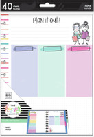 The Happy Planner - Me and My Big Ideas - Classic Filler Paper - Stick Girls Plan it Out (Color Block, Dot Grid, Lined)