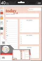 The Happy Planner - Me and My Big Ideas - Classic Filler Paper - Daily Focus Neutral Vibes (Checklist, Graph)