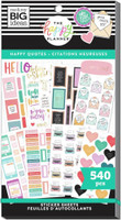 The Happy Planner - Me and My Big Ideas - Value Pack Stickers - Classic - Happy & Positive Quotes (#540)