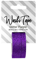 PA Essentials Washi Tape - Set of 2 - Glitter Purple
