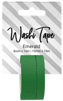 PA Essentials Washi Tape - Set of 2 - Emerald