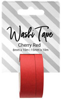 PA Essentials Washi Tape - Set of 2 - Cherry Red