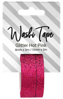 PA Essentials Washi Tape - Set of 2 - Glitter Hot Pink