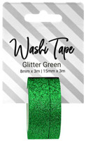 PA Essentials Washi Tape - Set of 2 - Glitter Green