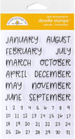 Doodlebug Designs - Clear Doodle Stamps - Calendar Handwritten