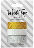 PA Essentials Washi Tape - Set of 3 - Brilliant Glitter Combo Pack