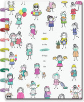 The Happy Planner - Me and My Big Ideas - Classic Happy Notes™ - Stick Girls Find Joy (Dot Grid)