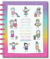 The Happy Planner - Me and My Big Ideas - BIG Happy Notes™- Stick Girls Happy Plans (Dotted Line)
