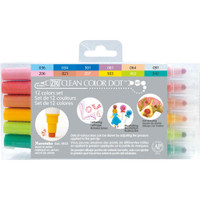 Kuretake ZIG Clean Color Dot Dual-Tip Markers - Set of 12