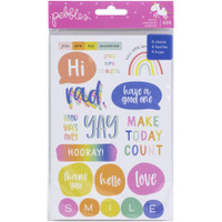 American Crafts - Pebbles - Live Life Happy Sticker Book