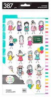 The Happy Planner - Me and My Big Ideas - Dashboard Stickers - Stick Babe Teacher