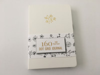 Buke Stationery - Hardcover Dot Grid Journal Notebook - 160GSM Thick Pages - White Floral