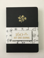 Buke Stationery - Hardcover Dot Grid Journal Notebook - 160GSM Thick Pages - Black Floral