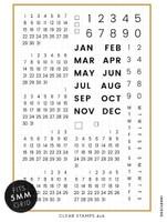 Ink By Jeng - Calendar Modern Stamp Set