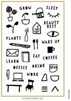 Ink By Jeng - Daily Activity Icons Stamp Set