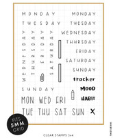 Ink By Jeng - Various Days of the Week Stamp Set