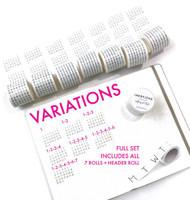 Ink By Jeng - Washi Tape Set - Calendar
