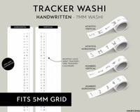 Ink By Jeng - Washi Tape 7mm - Trackers and Calendars (HANDWRITTEN)