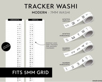Ink By Jeng - Washi Tape 7mm - Trackers and Calendars (MODERN)