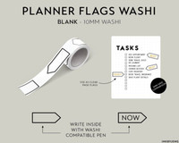 Ink By Jeng - Washi Tape - Planner Flags Blank