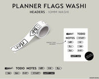 Ink By Jeng - Washi Tape - Planner Flags Headers