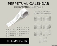 Ink By Jeng - Washi Tape - Perpetual Calendar (Handwritten)