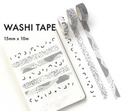 Ink By Jeng - Washi Tape - Black and White Patterns