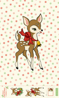 Moda Fabric - Deer Christmas by Urban Chiks - Digital Panel