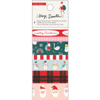 Crate Paper - Washi Tape - Hey Santa - Set of 7
