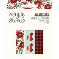 Carpe Diem - Simple Stories - Jingle All The Way Washi Tape - Set of 3