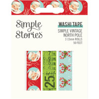 Carpe Diem - Simple Stories - Simple Vintage North Pole Washi Tape - Set of 3