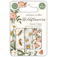 Craft Consortium - Washi Tape - At Home In The Wildflowers - Set of 3