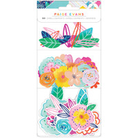 Paige Evans - Go The Scenic Route - Ephemera Cardstock Die-Cuts - Floral
