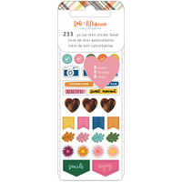 American Craftes - Amy Tangerine - Late Afternoon Mini Sticker Book - Icon and Phrases