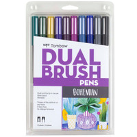 Tombow - Dual Brush Pen Art Markers - Set of 10 - Bohemian