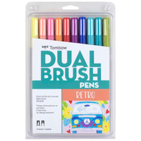 Tombow - Dual Brush Pen Art Markers - Set of 10 - Retro