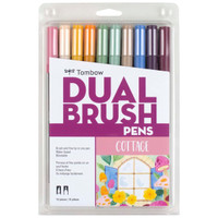 Tombow - Dual Brush Pen Art Markers - Set of 10 - Cottage