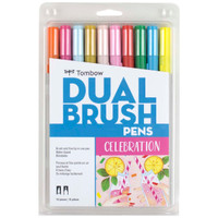 Tombow - Dual Brush Pen Art Markers - Set of 10 - Celebration