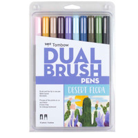 Tombow - Dual Brush Pen Art Markers - Set of 10 - Desert Flora