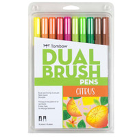 Tombow - Dual Brush Pen Art Markers - Set of 10 - Citrus